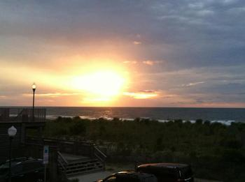 Sunrise at Seabonay Motel Ocean City.