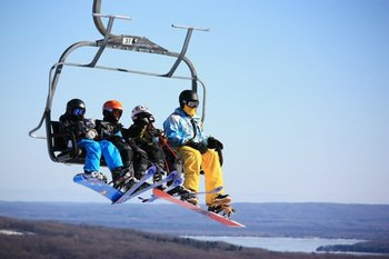 Skiing at Nubs Nob & Boyne Highlands near Trout Creek Condominium Resort .
