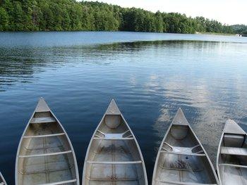 Canoeing at Sautee Resorts.