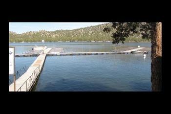 Dock view at Prineville Reservoir Resort.