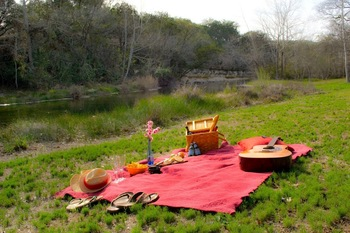 Picnic at Hill Country Premier Lodging.