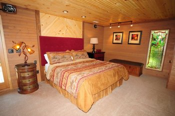 Rental bedroom at Chalet Village.
