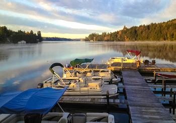 The lake at Ampersand Bay Resort & Boat Club.