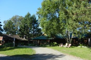 The grounds at Marten River Lodge.