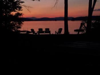 Sunset at Highland Lake Resort.