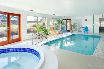 Indoor pool at Mayne Island Resort and Spa.