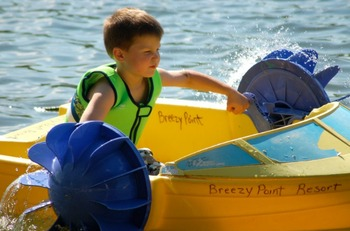 Water activities at  Breezy Point Resort.