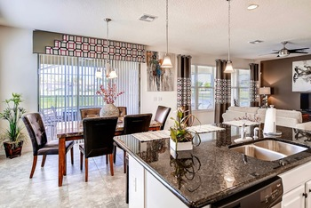 Vacation rental kitchen at Tropical Escape Vacation Homes.