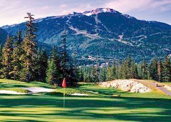 Golf course at The Fairmont Chateau Whistler.