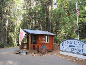 Exterior view of Harmony Ridge Resort.