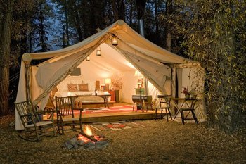 Luxury Tent at Fireside Resort