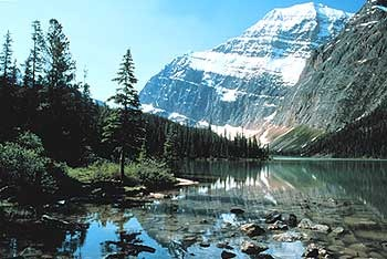 Mount Edith Cavell near Bear Cub Lodging.