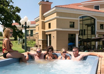 The hot tub at Tanglewood Resort and Conference Center.