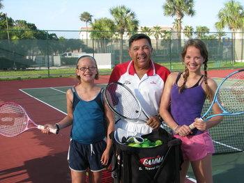 Tennis practice at St. Augustine Ocean & Racquet Resort.