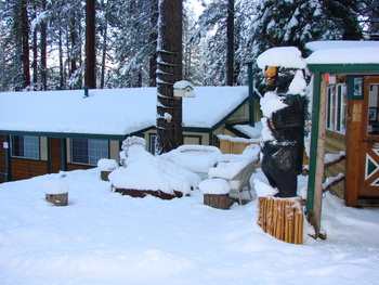 Cabin exterior at Heavenly Valley Lodge.