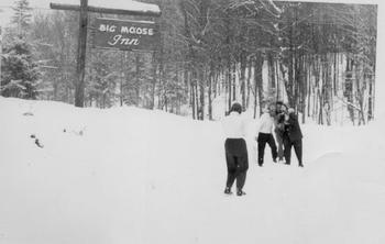 Historic photo at Big Moose Inn.
