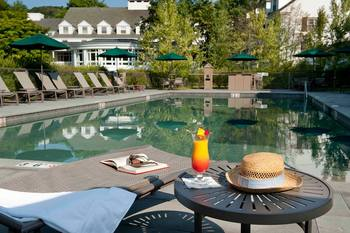 Outdoor pool at The Woodstock Inn & Resort