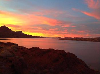 Sunset at Havasu Springs Resort.