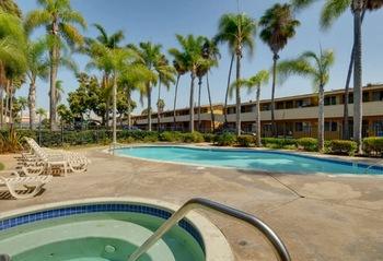 Outdoor pool at Vagabond Inn Chula Vista.