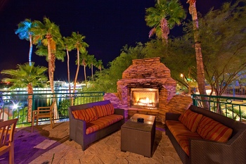 Outdoor lounge at London Bridge Resort.