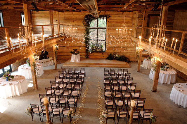 Wedding ceremony at The Variety Works near James Madison Inn.