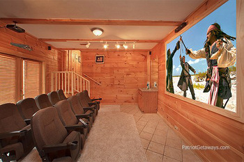 Movie Theater in Rental Home at American Patriot Getaways, LLC