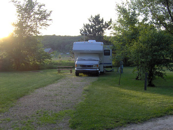 Camping Spot at Baraboo Hills Campground