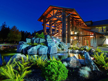 Main lodge exterior at Sunrise Ridge Resort.
