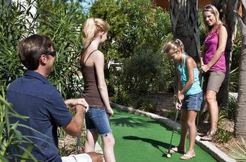 Mini golf at Landmark Resort.