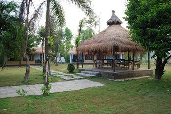 Exterior view of Jungle Lagoon Resort and Safari Lodge.