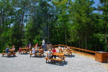 Picnic area at Accommodations by Parkside Resort.