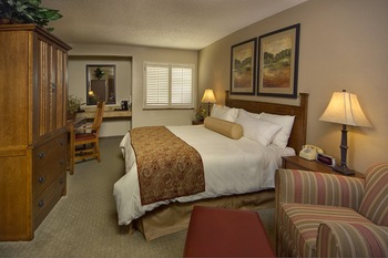Guest room at South Fork Hotel.