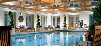 Indoor pool at The Inns at Equinox.