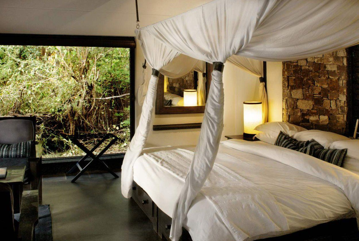 Guest room at Matetsi Private Game Reserve.
