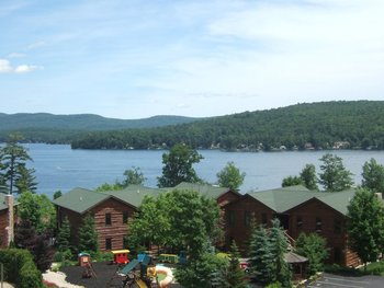 View of the lake at The Lodges at Cresthaven on Lake George.