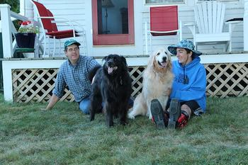 Pet friendly accommodations at Harborfields Cottages.