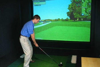 Virtual Golf at Olympia Resort.