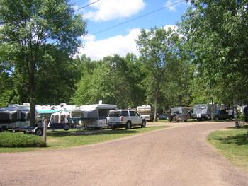RV park at Sullivans Resort & Campground.