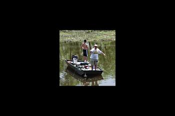 Fishing at Cedar Valley Lodge.