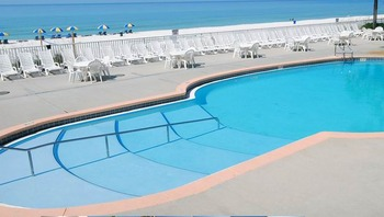 Outdoor swimming pool at Beachcomber by the Sea.