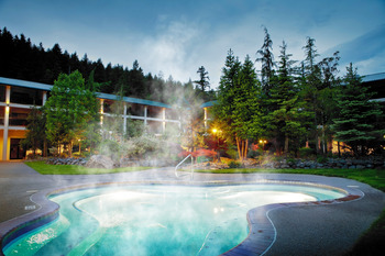 Outdoor pool at Bonneville Hot Springs Resort & Spa.