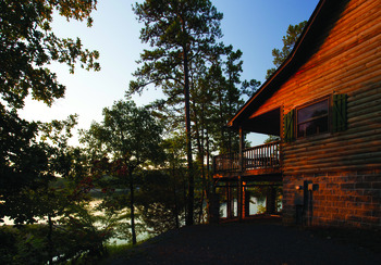 Cabin exterior at Mountain Harbor Resort.