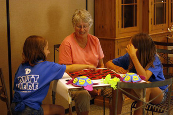 Family Week arts and crafts at Greenhorn Creek Resort.
