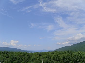 Mountain view at Travelodge Lake George.