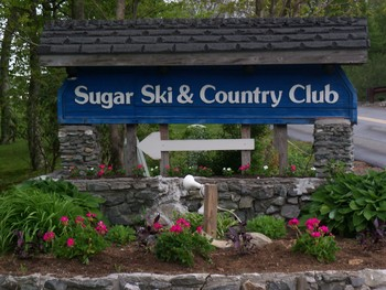 Sugar Ski and Country Club sign.
