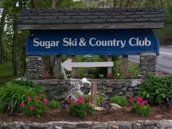 Sugar Ski and Country Club sign.