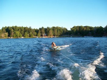 Tubing at Clear Lake Resort.