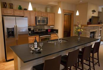 Condo kitchen at Edelweiss Lodge.