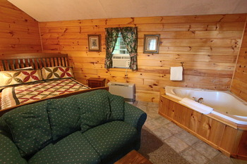 Guest bedroom at The New England Inn & Lodge.