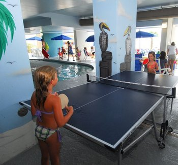 Ping-pong at Paradise Resort.